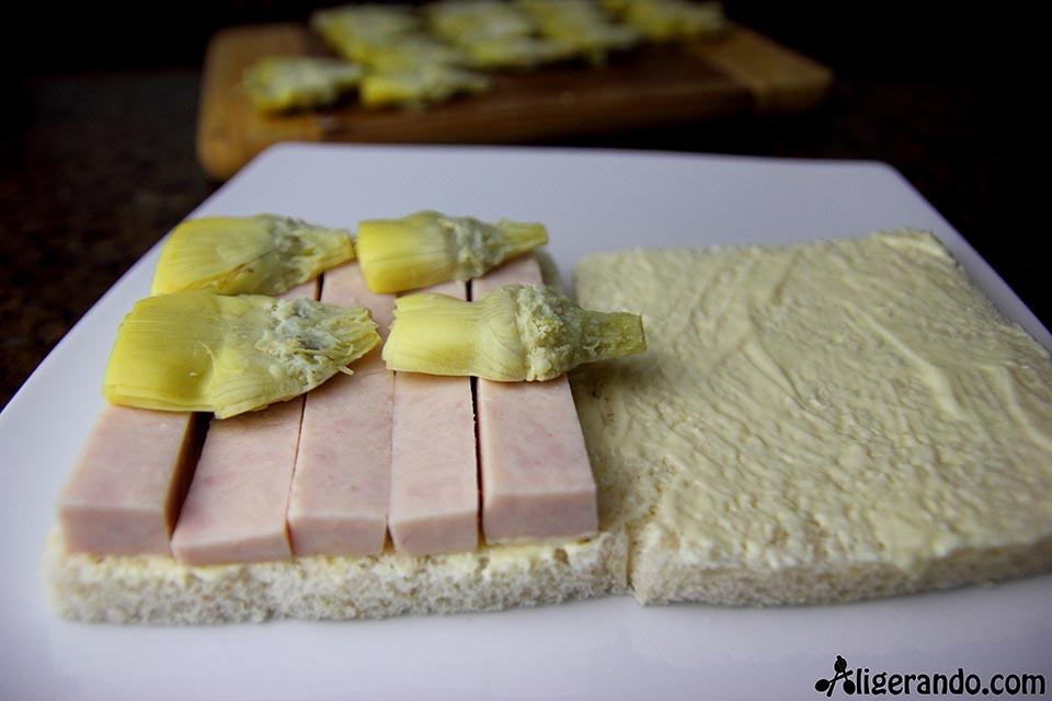 Sándwich romano, sándwich de pavo con alcachofas, sándwich de alcachofas, alcachofas sándwich de pavo, fiambre de pavo, pan de molde, receta con mayonesa, receta con mahonesa, mahonesa, mayonesa, receta rápida, receta 10 minutos, receta fácil, receta baja en calorías, recetas, cocina ligera, receta baja en grasa, receta con número de calorías, calorías, cocina sana, receta sana, receta rica y sana, rico, sano, saludable, cocina ligera, receta light, light.
