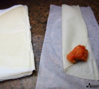 Triángulos de mejillones en escabeche y dulce de tomate (4)