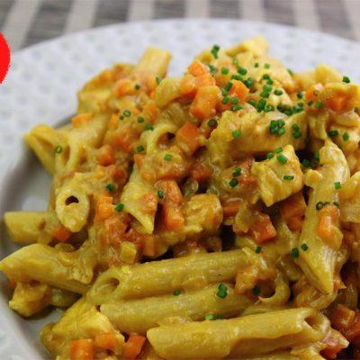 Receta con pasta, pasta, receta con pollo, pollo, receta con curry, curry, zanahoria, tomate, leche desnatada, macarrones estriados, Penne Rigate, aligerando, restando calorías, recipe, receta, recipes, recetas, cocina ligera, receta baja en grasa, receta con número de calorías, calorías, receta calorías, cocina sana, receta sana, receta rica y sana, rico, sano, saludable, healthy, healthy food, receta light, light, receta saludable, receta foto, fotoreceta, receta paso a paso, receta fácil, adelgazar, adelgazar comiendo, recetas para perder peso, receta para perder peso, recetas perder peso, receta perder peso.