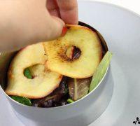 Milhojas de manzana con codorniz en escabeche (5)