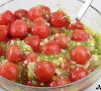 Sopa fría de sandía, mango y berberechos (6)