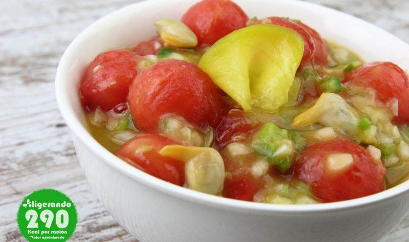 Sopa fría de sandía, mango y berberechos, receta de sandía, receta de mango, receta de berberechos, sandía, mango, berberechos, sopa fría, receta fría, receta refrescante, aligerando, restando calorías, recipe, receta, recipes, recetas, cocina ligera, receta con número de calorías, calorías, receta calorías, cocina sana, receta sana, receta rica y sana, rico, sano, saludable, healthy, healthy food, receta light, light, receta saludable, receta fácil, adelgazar, adelgazar comiendo, comida real, real food, receta rápida, receta paso a paso, sin lactosa, sin gluten, gluten free, receta baja en grasa, receta baja en calorías, receta tupper, receta táper, tupper, táper, receta para dos, para 2.