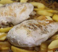 Pollo con cebolla y manzana (6)